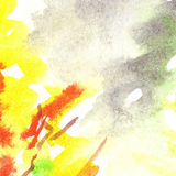 Watercolor autumn foliage flame abstract texture background Stock Photo