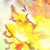 Watercolor autumn foliage flame abstract texture background Stock Photos