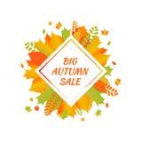 Watercolor autumn foliage vector sale banner Stock Photo