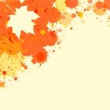 Watercolor autumn frame Stock Photo