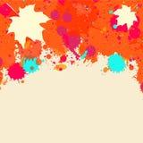 Watercolor autumn frame Stock Photos
