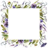 Watercolor autumn frame royalty free illustration