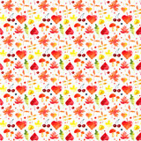 Watercolor autumn pattern. Stock Images