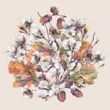 Watercolor autumn vintage bouquet Royalty Free Stock Photography