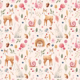 Watercolor baby pattern Royalty Free Stock Images
