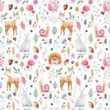 Watercolor baby vector pattern Stock Photo
