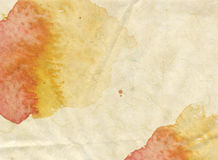 Watercolor background. Nice grunge yellow texture in watercolor splatters and spills on paper for use as a background or texture Royalty Free Stock Photography
