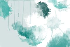 Watercolor background in teal blue royalty free stock image