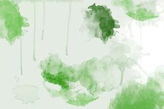 Watercolor background in greens royalty free stock image