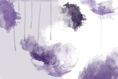 Watercolor background in violet stock photos