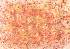 Watercolor background. Warm watercolor background with red, orange, yellow splashes Stock Image