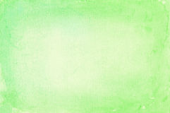 Watercolor background. Abstract green watercolor vignette background Stock Photography
