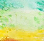 Watercolor background. Colorful graduated background made with watercolors stock image