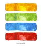 Watercolor background.  Abstract background. Hand drawn. Texture background. Four isolated vectors. Stock Image
