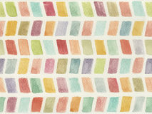 Watercolor background. Abstract colorful geometric watercolor background in indian style Royalty Free Stock Image