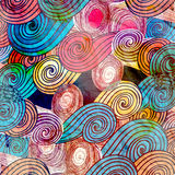 Watercolor background with abstract elements Stock Images