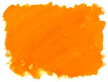 Watercolor background. Abstract orange watercolor background Stock Photos
