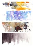 Watercolor background 11. Another mix of watercolor backgrounds Stock Image