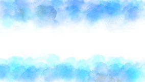 Vector Blue and Green Watercolor Texture Frame for Abstract Background