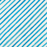 Watercolor background. With blue diagonal stripes on white paper Royalty Free Stock Image