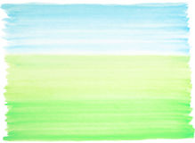 Watercolor background blue-green. Watercolor background blue and green colors landscape Royalty Free Stock Photo
