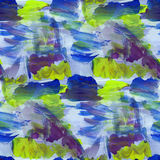 Watercolor background blue, green seamless texture abstract pain Royalty Free Stock Photography