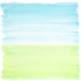 Watercolor background blue-green. Square watercolor background blue and green colors Stock Photos