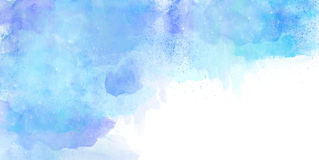 Watercolor Background Blue. Watercolor Background in shades of blue on white background Royalty Free Stock Photography