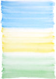 Watercolor background blue-yellow-green. Light watercolor background in blue, yellow and green colors Royalty Free Stock Images