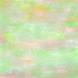 Watercolor background with brushstrokes in pink and green colors. Royalty Free Stock Photography