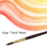 Watercolor background. colorful yellow pink Abstract water color and artist brush Stock Photos