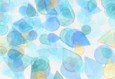 Watercolor background. With drops pattern in light shades Stock Image