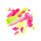 Watercolor background. Expression abstract art print in pink and green colors Royalty Free Stock Photo