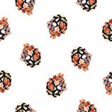 Watercolor background fir cones. Seamless pattern on white background. Watercolor background fir cones. Seamless pattern on white Stock Images