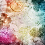 Watercolor background with flowers Royalty Free Stock Photos