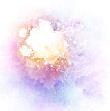 Watercolor Background With Flowers And Splashes Stock Images