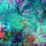 Watercolor background. Green watercolor background. Abstract texture Stock Image
