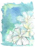 Watercolor background. Hand drawn watercolor floral background Royalty Free Stock Photos