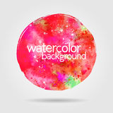 Watercolor background, hand-drawn round stain Royalty Free Stock Images