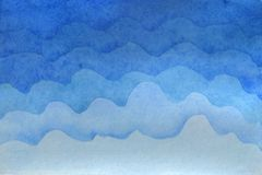 Watercolor background illustration. Watercolor gentle cloud on the sky royalty free illustration