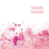 Watercolor background for layout. Vector pink splashes. Stock Photo