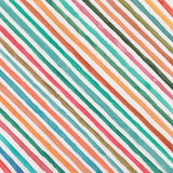 Watercolor background. With multicolor diagonal stripes on white paper Stock Image