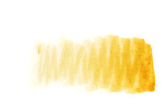 Watercolor background ocher. Ochre watercolor background. The gradient color transition from a saturated ocher to light ocher. Design elements. Painting. Grunge Stock Photo
