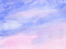 Watercolor background with paper texture Royalty Free Stock Photo