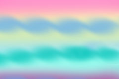 Watercolor background of pink, blue, yellow and green colors Royalty Free Stock Photo