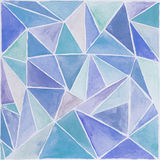 Watercolor background. Polygonal blue abstract watercolor background Stock Photography