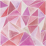 Watercolor background. Polygonal pink abstract watercolor background Royalty Free Stock Photography