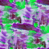 Watercolor background purple, green seamless texture abstract pa Royalty Free Stock Photo