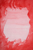 Watercolor background with red layers on paper Royalty Free Stock Image