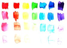 Watercolor background sample set Stock Photography